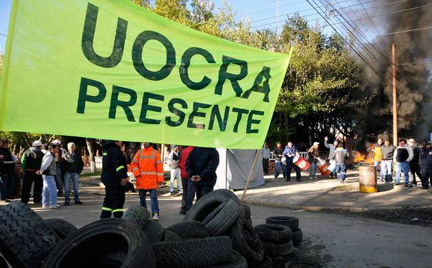 Los reclamos de la Uocra - Foto: OPI Santa Cruz/Francisco Muñoz