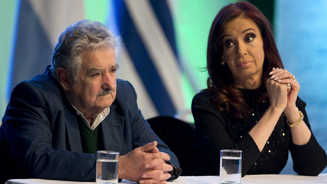 El Presidente de Uruguay José Mujica junto a Cristina Kirchner - Foto: