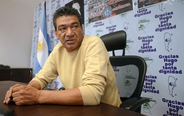 El Secretario General de camioneros en Santa Cruz Juan Almada - Foto: OPI Santa Cruz/Francisco Muñoz