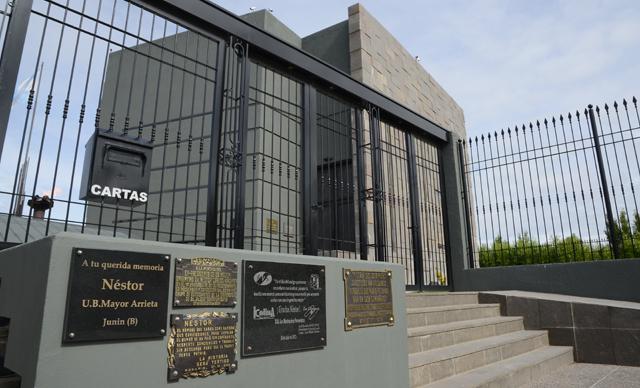 El mausoleo de la familia Kirchner este mediodía - Foto: OPI Santa Cruz/Francisco Muñoz