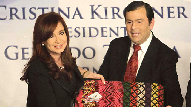 La Presidenta de la Nación junto a quien fuera Gobernador de Santiago de Estero Jorge Zamora - Foto: