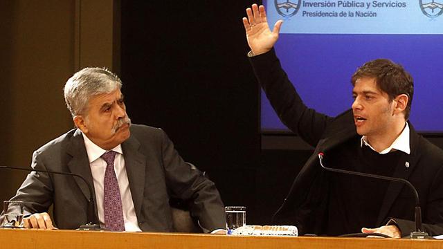 El Ministro Julio De Vido junto A Axel Kicillof - Foto: