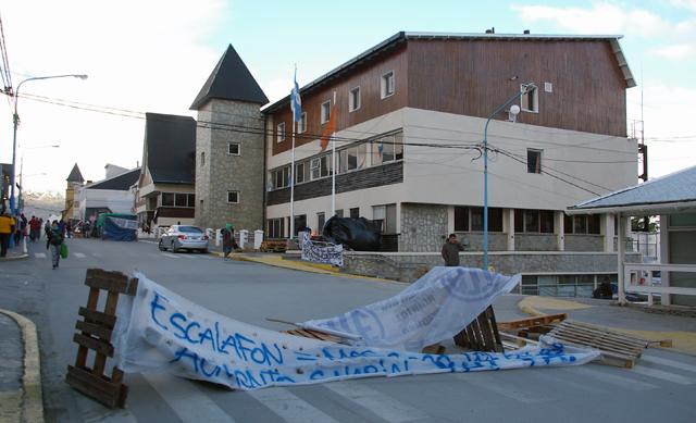 La casa de gobierno de Tierra del Fuego en Ushuaia días atrás - Foto: Gentileza Ushuaia Noticias