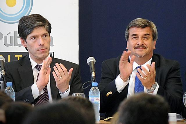 Juan Manuel Abal Medina junto a Alfredo Soccimarro - Foto: Archivo