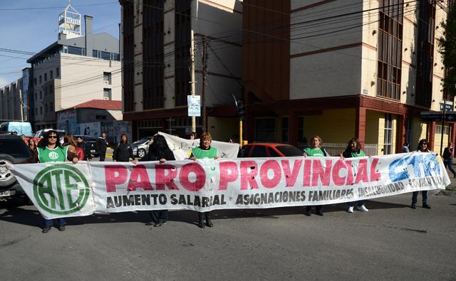 Los trabajadores se movilizaron por centro de la ciudad - Foto: OPI Santa Cruz/Francisco Muñoz