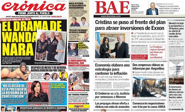 Los diarios BAE y Cronica - Foto: