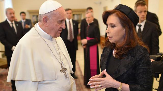 Francisco junto a Cristina Kirchner en el Vaticano - Foto: