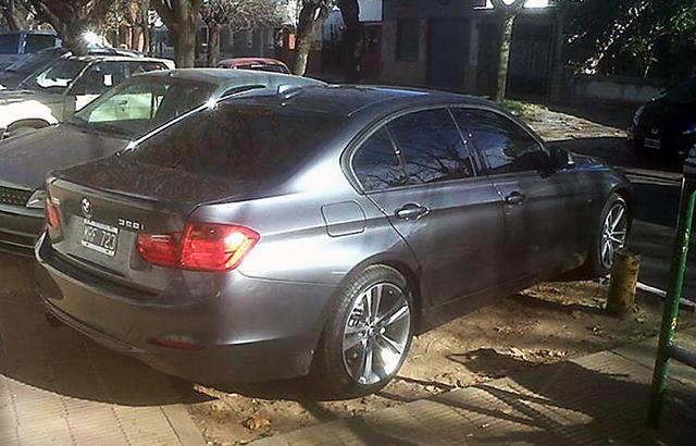 El BMW que le robaron a Anibal Fernández - Foto: Gentileza Clarín