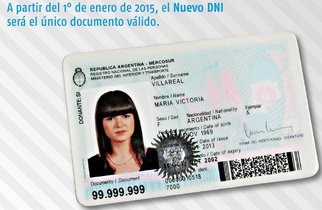 El nuevo DNI tendrá un chip que incluirá la historia clínica de las personas y los datos de su SUBE