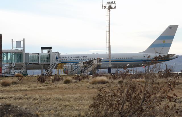 Ayer el T01 en el aeropuerto de Río Gallegos - Foto: OPI Santa Cruz/Francisco Muñoz