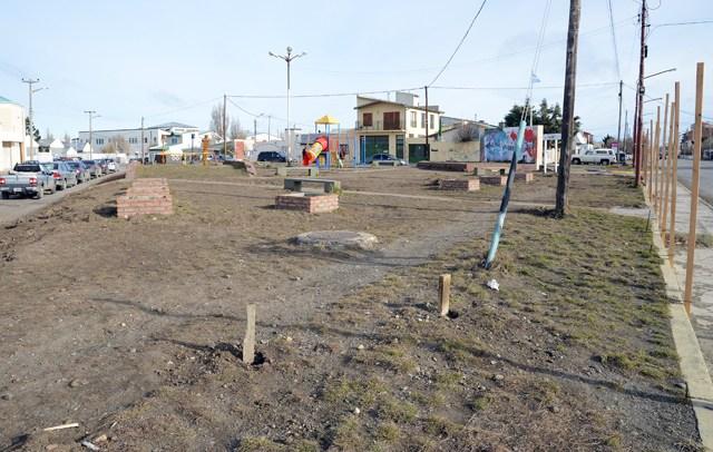 """La plazoleta """"El Gaucho"""" en la esquina de Lisandro de Latorre y Pasteur - Foto: OPI Santa Cruz/Francisco Muñoz"""
