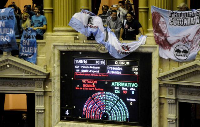Diputados aprobó el nuevo canje de la deuda tras un áspero debate - Foto: Clarín
