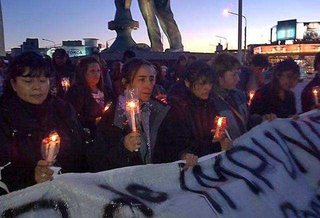 Comenzaron las marchas pidiendo justicia por Rita Bejarano. Un crimen más que va camino a la impunidad - Foto: Gentileza Voces y Apuntes