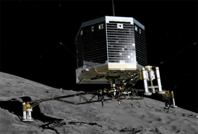 """Misión Rosetta: las tres """"buenas noticias"""" que envío el robot Philae tras aterrizar"""