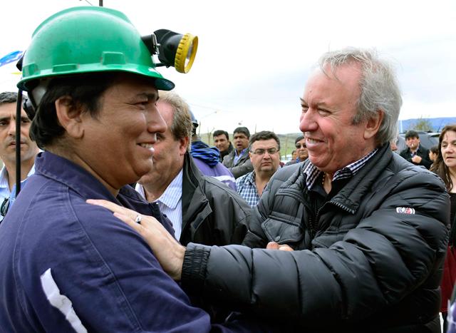 El Gobernador Peralta ayer en Río Turbio - Foto: Prensa de Gobierno