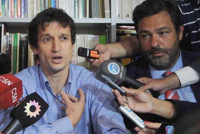 Lagomarsino en conferencia de prensa - Foto: