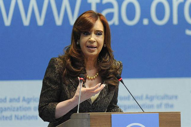 Ante la FAO, Cristina dijo que en la Argentina el índice de pobreza está por debajo del 5% y la indigencia en 1,27%