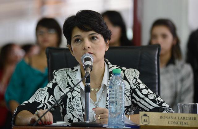 La Concejal Rosana Larcher - Foto: OPI Santa Cruz/Francisco Muñoz