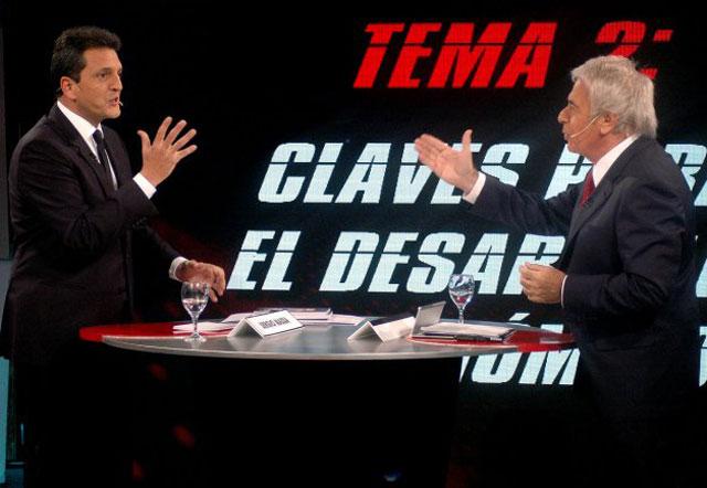 Massa y De la Sota se sacaron chispas en un debate movido