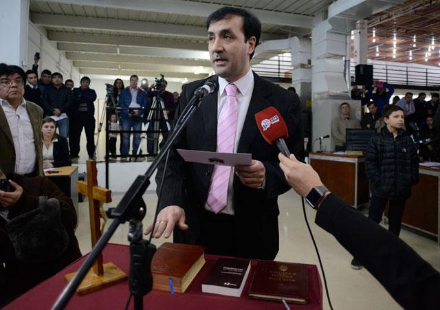 Pablo Grasso juró esta tarde - Foto: OPI Santa Cruz/Francisco Muñoz
