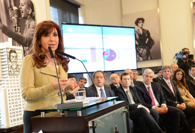 """Cristina atribuyó a """"grupos de tareas"""" las acusaciones contra Aníbal Fernández"""