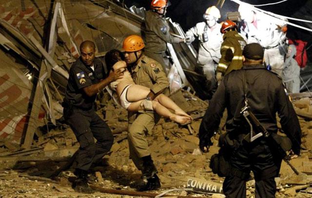 Explosión en Río de Janeiro: se derrumbaron varios edificios
