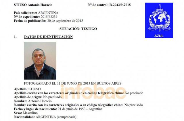 Interpol libró una circular azul para ubicar a Stiuso