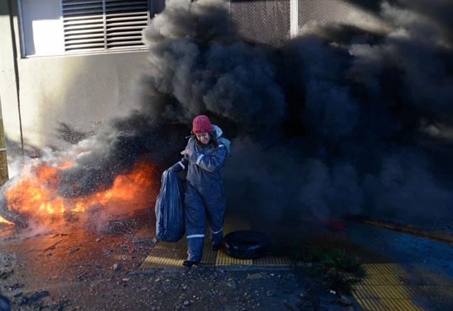 Incidentes en la Cámara de Diputados de Santa Cruz – Foto: OPI Santa Cruz/Francisco Muñoz