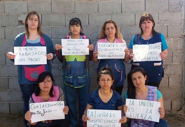 En perito Moreno hay 8 docentes del jardín Maternal municipal que no cobran el sueldo desde hace 9 meses
