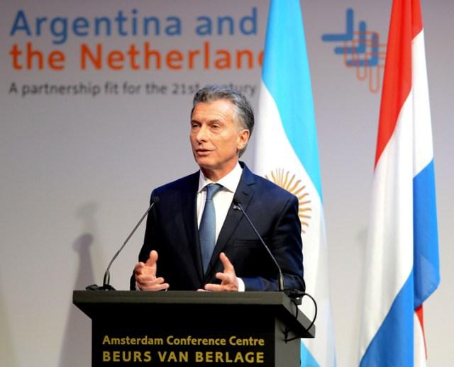 Macri cosechó en Holanda un fuerte interés por el país y apoyo de los inversores
