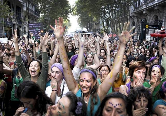 El clamor por los derechos de las mujeres recorrió todo el país