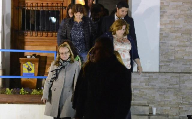 Alicia Kirchner logra salir de la casa de gobierno cerca de las cuatro de la madrugada – Foto: OPI Santa Cruz/Francisco Muñoz