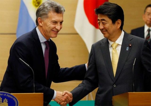 Mauricio Macri se reunió con el primer ministro de Japón