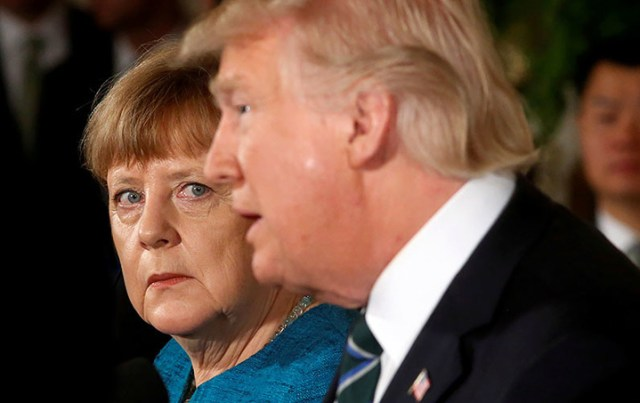 Decepcionada, Merkel advierte que EE.UU. ya no es un aliado confiable