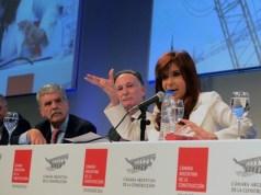 Cristina Kirchner inaugurando obras