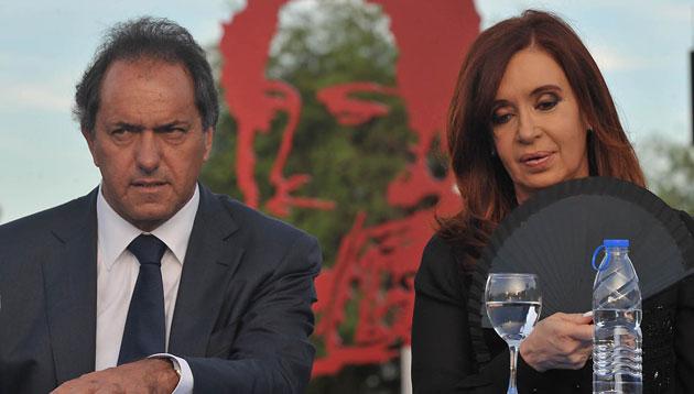 El Gobernador de Buenos Aires Daniel Scioli junto a la Presidenta de la Nación Cristina Fernández de Kirchner - Foto: Presidencia
