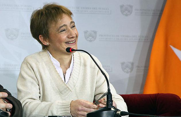 La Gobernadora de Tierra del Fuego Fabiana Ríos – Foto: OPI Santa Cruz