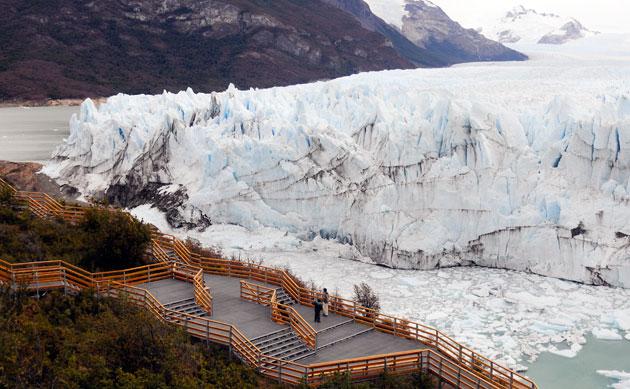 El majestuoso glaciar Perito Moreno, apoyado sobre la Peninsula de Magallanes - Foto: OPI Santa Cruz/Francisco Muñoz