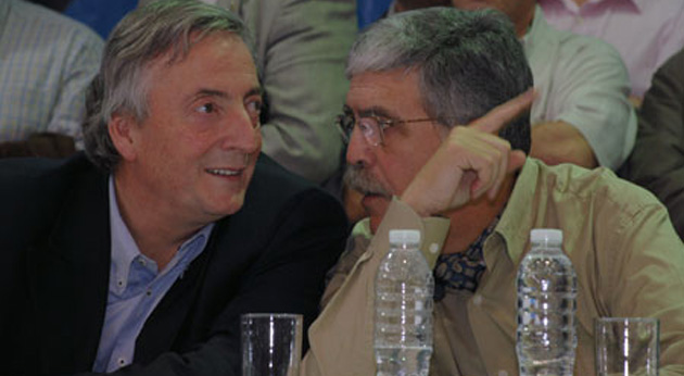 Néstor Kirchner y Julio De Vido
