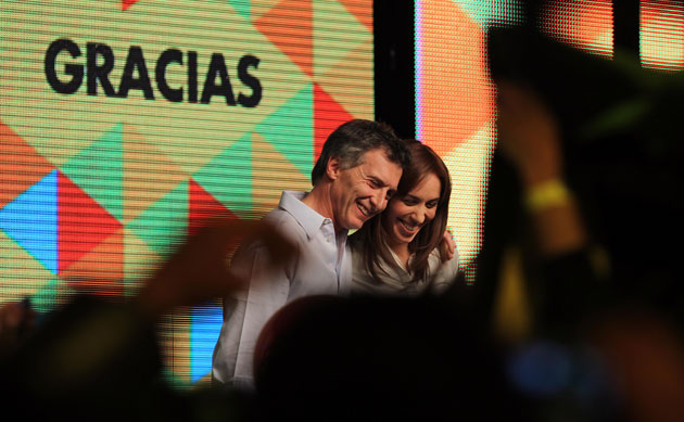 Ayer los festejos en el Bunker de Mauricio Macri – Foto: Prensa PRO