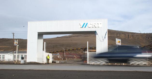 El acceso a YCRT en Río Turbio - Foto: OPI Santa Cruz/Francisco Muñoz