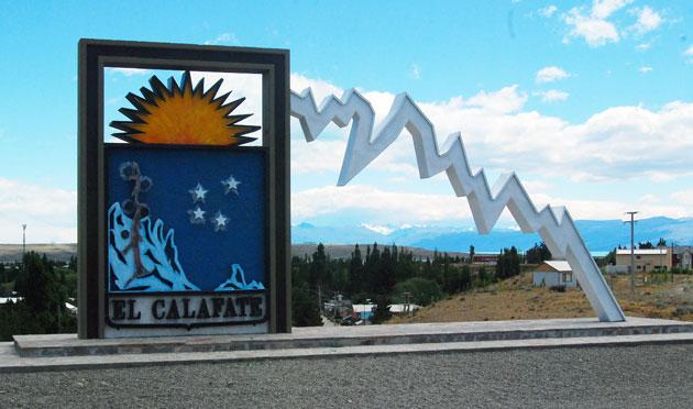 El acceso a El Calafate – Foto: OPI Santa Cruz/Francisco Muñoz
