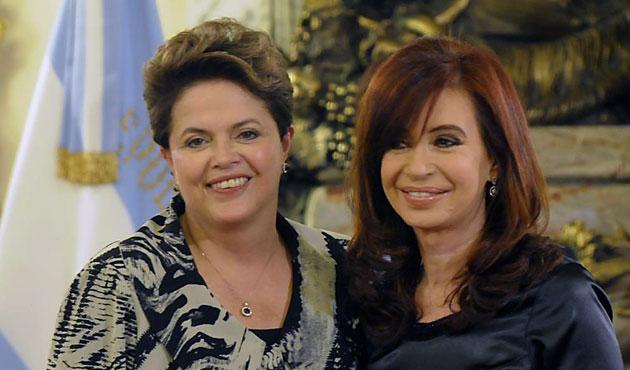 La Presidentas de Brasil Dilma Rousseff y Cristina Fernández de Kirchner - Foto: Web