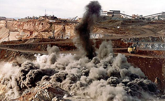 Megaminería explosiones a cielo abierto - Foto: Web