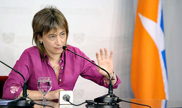 La Gobernadora de Tierra del Fuego Fabiana Ríos – Foto: OPI Santa Cruz/Alejandro Madril