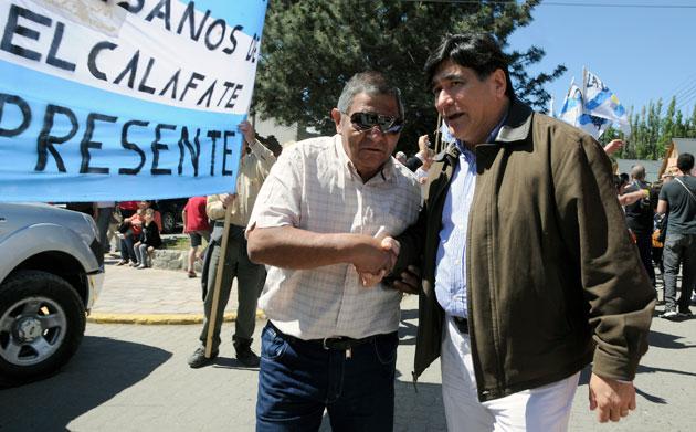 Carlos Zanini en El Calfate el viernes al finalizar los actos de la Presidenta Cristina Kirchner - Foto: OPI Santa Cruz/Francisco Muñoz