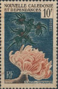 stamp Glaucus atlanticus - Nouvelle Caledonie