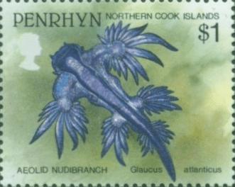stamp Glaucus atlanticus - Penrhyn (Northern Cook Islands)