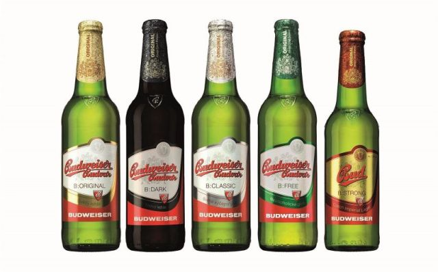 Budvar, fľaša, Budweiser,
