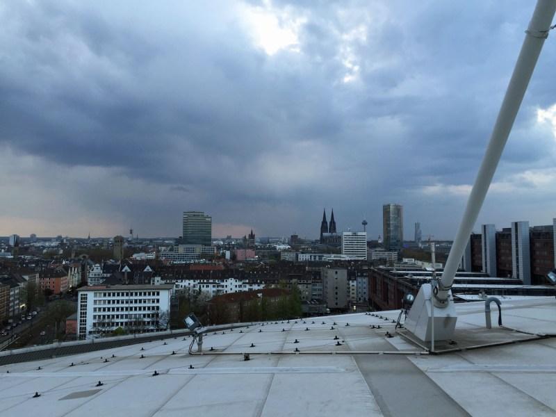 Blick vom Dach der Lanxess Arena